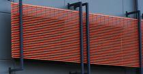 Frangisole in alluminio / per facciata