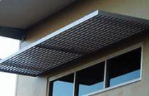 Pensilina per porte e finestre / in alluminio