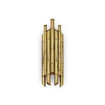 Applique moderna / in ottone placcato oro / alogena / tubolare
