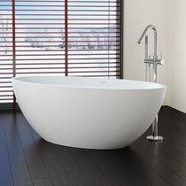 Vasca da bagno da appoggio / ovale / ghisa minerale