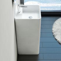 Lavabo da terra / quadrato / ghisa minerale / moderno