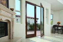Porta finestra battente / in legno