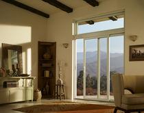 Vetrata scorrevole / in legno / a doppi vetri