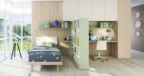 Cameretta per bambini bianca / verde / uso misto / in legno