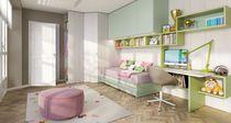 Cameretta per bambini uso misto / verde / in legno / in melamminico