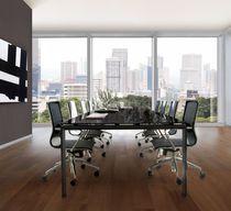 Tavolo da riunione moderno / in metallo / in vetro / rettangolare