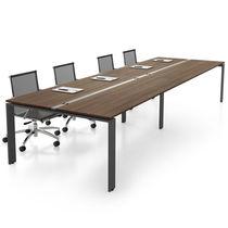 Tavolo da riunione moderno / in olmo / in metallo / rettangolare