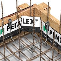Sistema impermeabilizzante in acciaio / per recinzione / in cemento