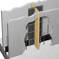 Isolante acustico / in fibra di legno / per muro / in pannelli