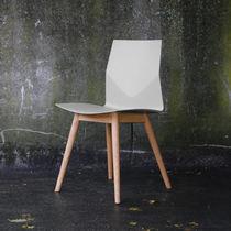 Sedia da ufficio moderna / imbottita / riciclabile / in quercia