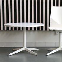 Tavolo moderno / in laminato / in alluminio / rotondo