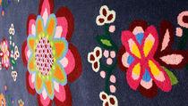 Tappeto moderno / a fiori / in lana / rettangolare