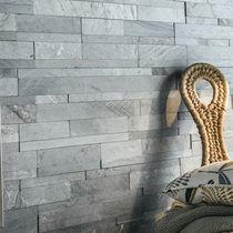 Lastra di paramento in pietra naturale / indoor / testurizzata / decorativa