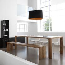 Set tavolo e panca moderno / in legno massiccio / da interno / per uso residenziale