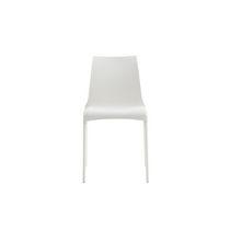Sedia moderna / impilabile / in pelle / in alluminio