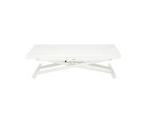 Tavolo moderno / in metallo laccato / rettangolare / altezza regolabile