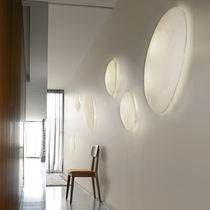 Applique moderna / di carta / fluorescente compatta / ovale