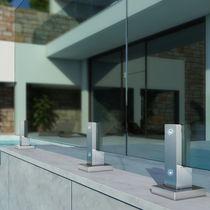 Ringhiera da esterno / in alluminio / a pannello in vetro / per terrazza