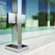 Sistema di fissaggio in alluminio anodizzato / per balcone