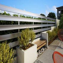 Recinzione da giardino / a lamelle / in alluminio