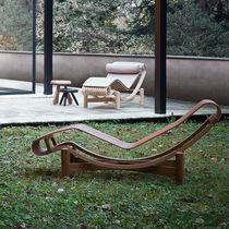 Chaise longue moderna / in legno / da interno / da esterno
