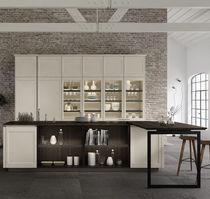Cucina moderna / in legno / in vetro / in alluminio laccato