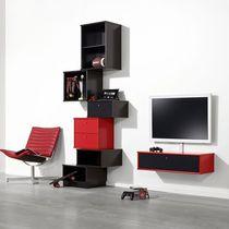 Parete attrezzata TV moderno / in legno laccato / modulare