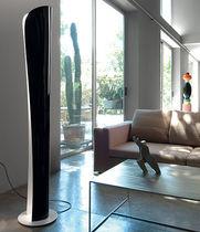 Colonna luminosa moderna / in acciaio / alogena / LED