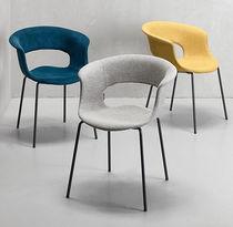 Sedia moderna / imbottita / in tessuto / in acciaio