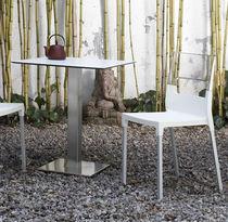 Sedia moderna / impilabile / in alluminio anodizzato / in polipropilene