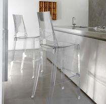 Sedia alta moderna / impilabile / riciclabile / in policarbonato