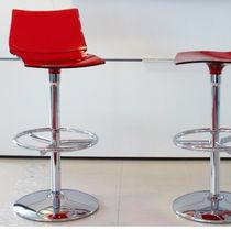 Sedia alta moderna / con base centrale / girevole / riciclabile