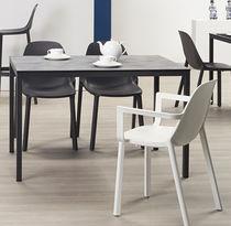Tavolo moderno / in acciaio / in laminato / rettangolare