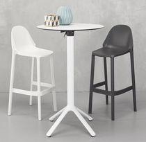 Tavolo alto moderno / in alluminio / rotondo / da esterno