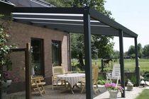 Tettoia per terrazzo / in alluminio