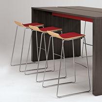 Sgabello da bar moderno / in legno / in tessuto / professionale