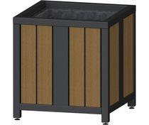 Fioriera in metallo / in legno / quadrata / moderna