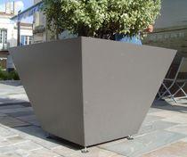 Fioriera in metallo / quadrata / moderna / per spazi pubblici