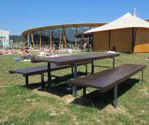 Tavolo da pic nic / moderno / in legno / rettangolare