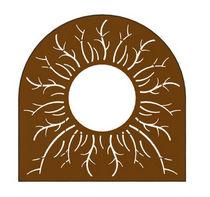 Griglia per alberi in acciaio COR-TEN® / altre forme