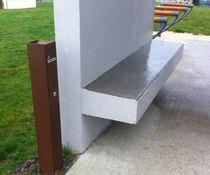 Portacenere da terra / in acciaio / per esterni / per spazio pubblico
