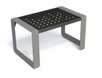Sgabello moderno / in metallo / per spazio pubblico / da esterno