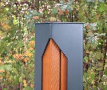 Colonna di protezione / in legno / amovibile