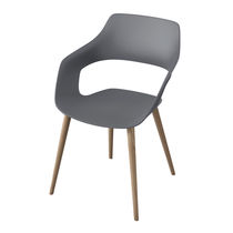 Sedia visitatore moderna / in tessuto / in legno / imbottita