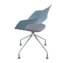 Sedia visitatore moderna / in metallo / in tessuto / imbottita