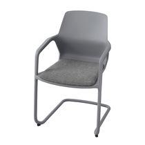 Sedia visitatore moderna / in metallo / in tessuto / con braccioli