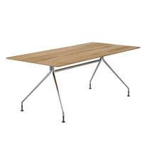 Tavolo da riunione moderno / in legno / in metallo / in MDF stratificato