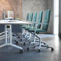 Poltrona da ufficio moderna / in tessuto / in pelle / in alluminio