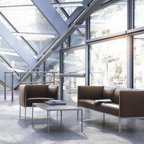 Tavolino basso moderno / in legno / in vetro / rettangolare
