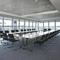 Tavolo da riunione moderno / in legno / rettangolare / per edifici pubblici